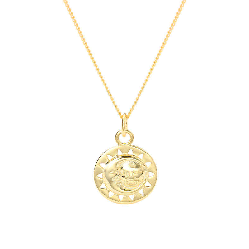 Mysterious Universe Sterling Silver Plated Gold Necklace