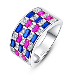 Shiny Cushion Cut Sterling Silver Ring-ZX-Juri Elle