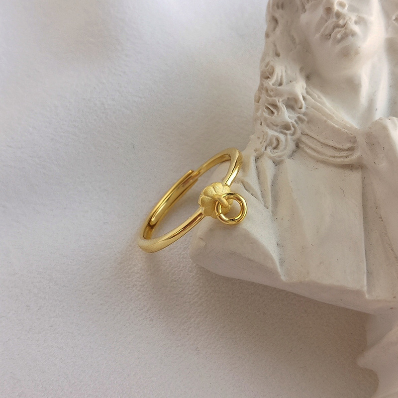 Simple Petals Sterling Silver Plated Gold Ring