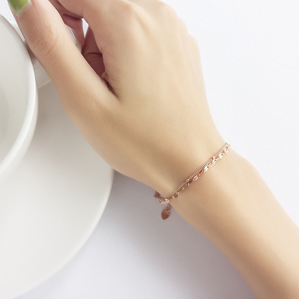 Sweet Double-layer Sterling Silver Bracelet