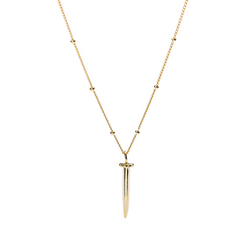 Bullet Sterling Silver Plated Gold Necklace