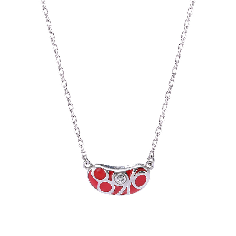 Lovesickness Round Cut Sterling Silver Plated Platinum Necklace