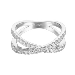 Infinity Round Cut Sterling Ring For Women-TL-Juri Elle