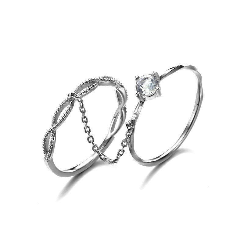 Moonstone Stackable Sterling Silver Ring-DL-Juri Elle