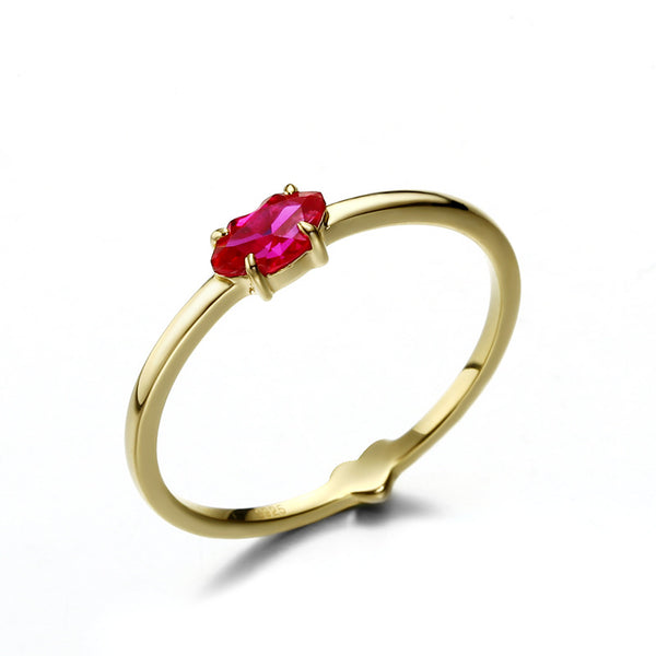 Red Heart Sterling Silver Ring-DL-Juri Elle