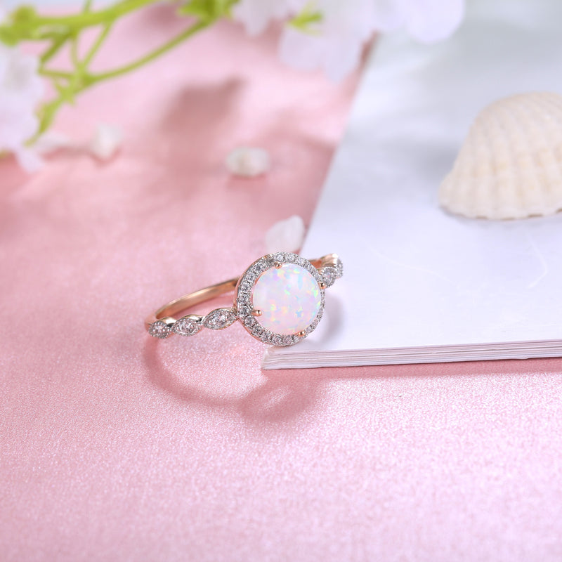 Moonstone Ring with Diamonds - Mirth