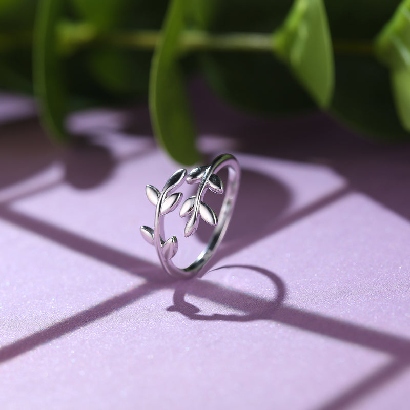 ' LEAF ' Sterling Silver Ring