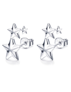 KFKa 925 Sterling Silver Star Earrings