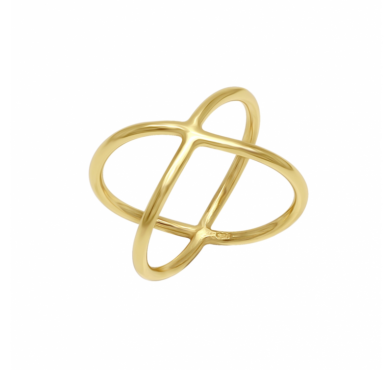 Criss Cross Ring Gold-J&CO-Juri Elle