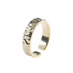 Undulating Adjustable Sterling Silver Ring