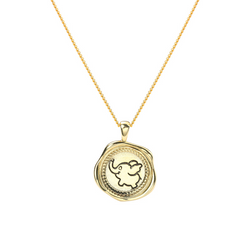 Dumbo Irregular Sterling Silver Plated Gold Necklace