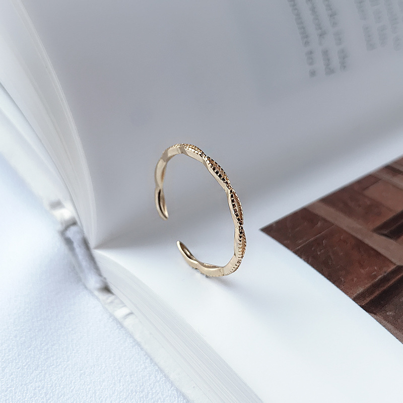 Infinity Stackable Sterling Silver Plated Gold Ring