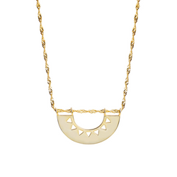 Hallow Sector Sterling Silver Plated Gold Necklace