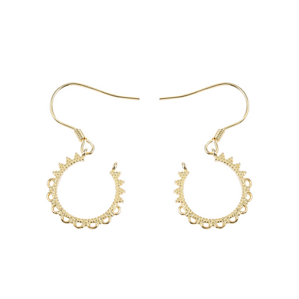 Petal Sterling Silver Plated Gold Earring