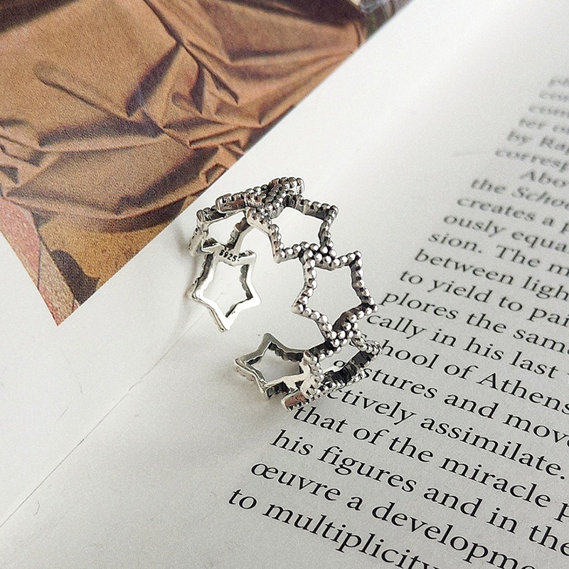 Hallow Star Thai Silver Ring