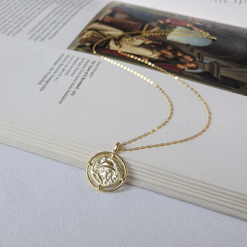 Navigator Sterling Silver Plated Gold Necklace