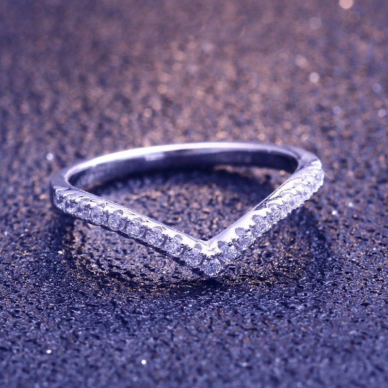 Simple Heart Round Cut Sterling Silver Ring-TL-Juri Elle