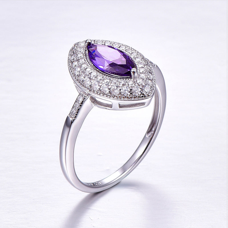 Romantic Marquise Cut Sterling Silver Ring-ZX-Juri Elle