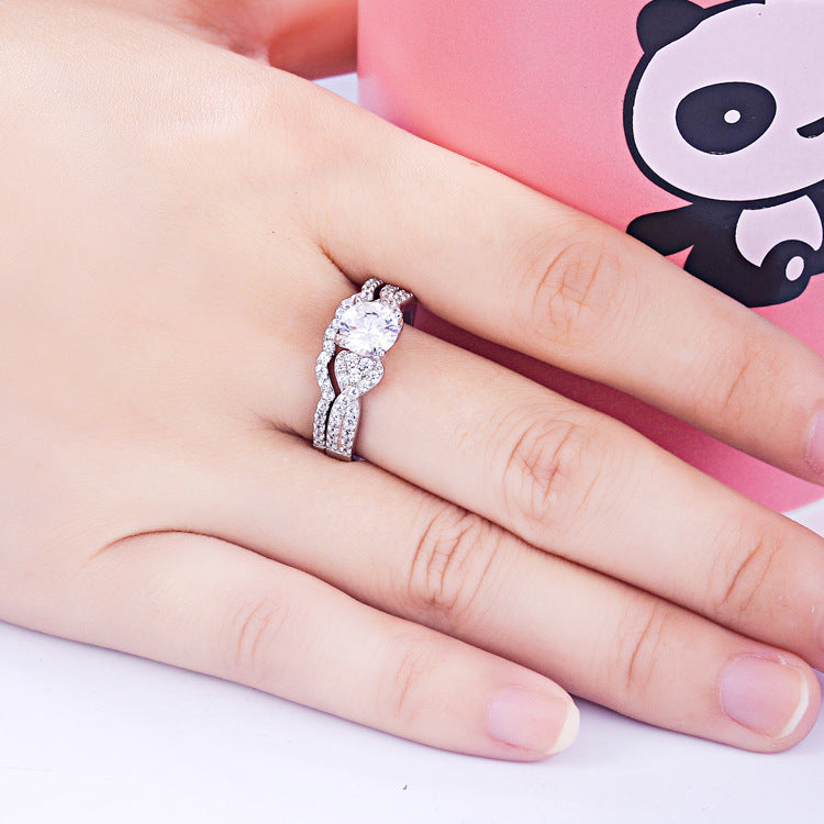 Accompany Round Cut Sterling Silver Ring-TL-Juri Elle