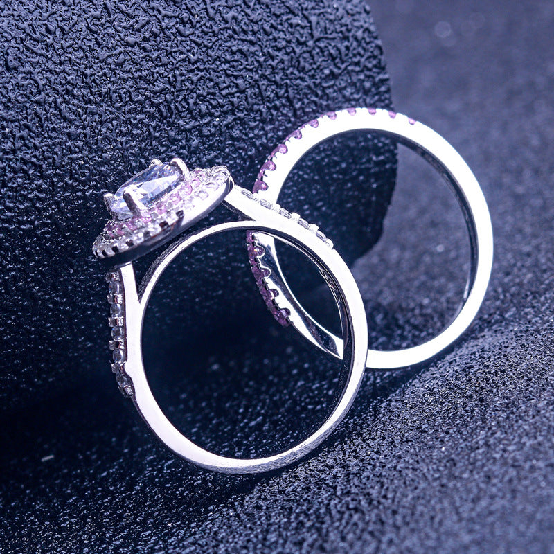 Sparkle Love Round Cut Sterling Silver Ring-TL-Juri Elle