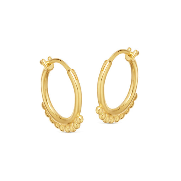 Twist Ring Sterling Silver Plated Gold Earring