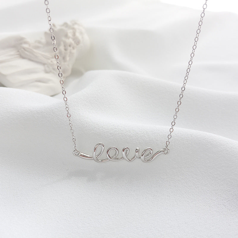 Love Letter Sterling Silver Necklace