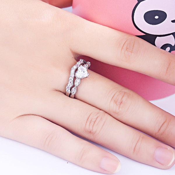 Eternal Heart Cut Sterling Silver Ring-TL-Juri Elle