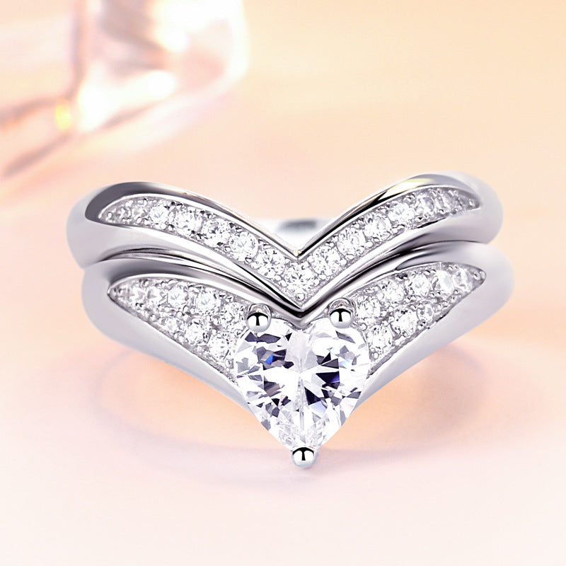 HaiYan Heart Cut Sterling Silver Ring-TL-Juri Elle