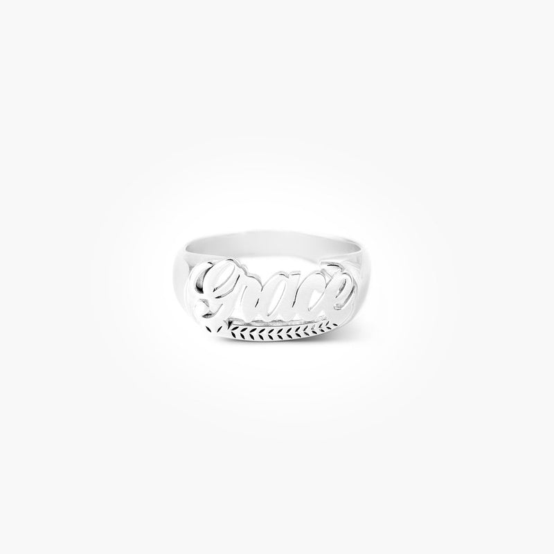 Throwback Custom Name Ring