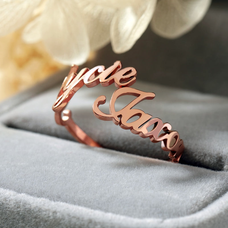 2 Names Customized Name Ring