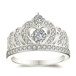 Round Cut Crown Ring