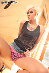Kleio Valentien's worn Thong from Jean Skirt Strip Photoset