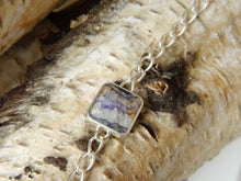 Load image into Gallery viewer, Blue John & Mother of Pearl Reversible Silver Chain Bracelet