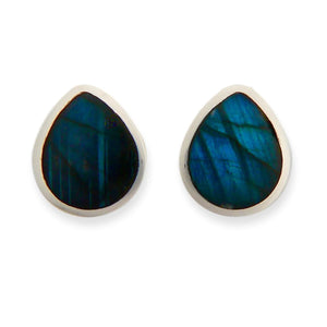 handmade labradorite stud earrings