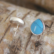 Load image into Gallery viewer, Turquoise Peardrop Stud Earrings