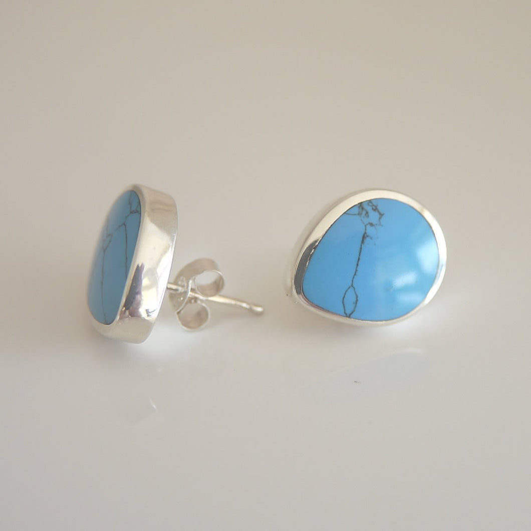 Turquoise stud earrings by Andrew Thomson