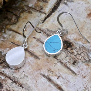 turquoise silver earrings by my handmade jewellery