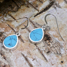 Load image into Gallery viewer, turquoise silver earrings