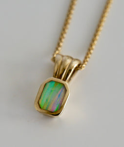 9ct Gold Pendant with Opalite