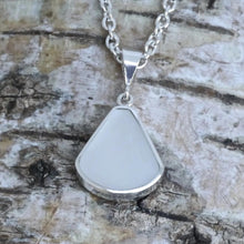 Load image into Gallery viewer, Mother of Pearl and Amethyst reversible pendant - my handmade jewellery