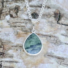 Load image into Gallery viewer, connemara silver pendant with labradorite - handmade in the UK