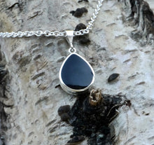 Load image into Gallery viewer, Blue John & Jet Double Sided Pendant Pear Design