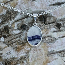 Load image into Gallery viewer, blue john double sided pendant handmade in the UK