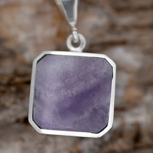 Load image into Gallery viewer, Amethyst & Turquoise Double Sided Pendant