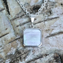 Load image into Gallery viewer, fluorite pendant in silver - handmade in the UK