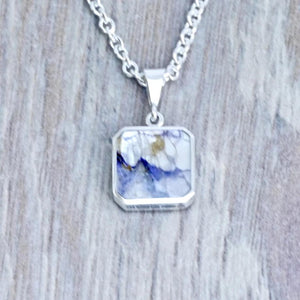 Blue John & Fluorite Double Sided Pendant