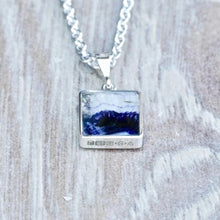 Load image into Gallery viewer, blue john silver pendant handmade in the UK by Andrew Thomson