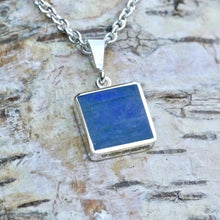 Load image into Gallery viewer, labradorite silver pendant handmade in the UK by jewellery designer Andrew Thomson