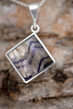 Load image into Gallery viewer, Blue John & Labradorite Double Sided Square Pendant