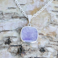 Load image into Gallery viewer, silver amethyst pendant handmade by designer Andrew Thomson